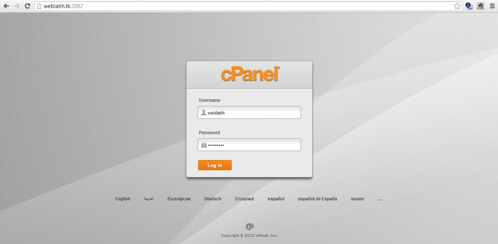 login cpanel, cpanel, cara install wordpress
