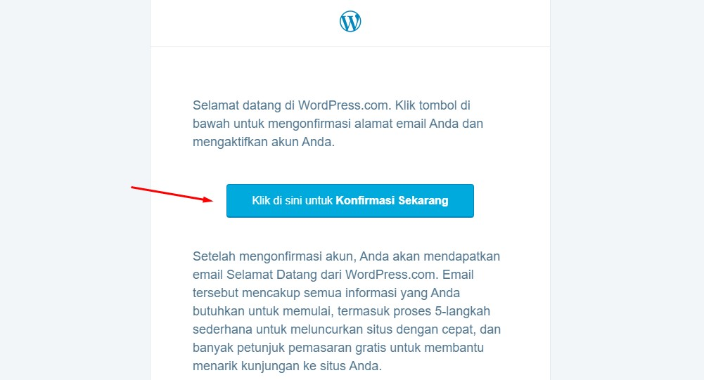 aktivasi email pendaftaran akun wordpress.com