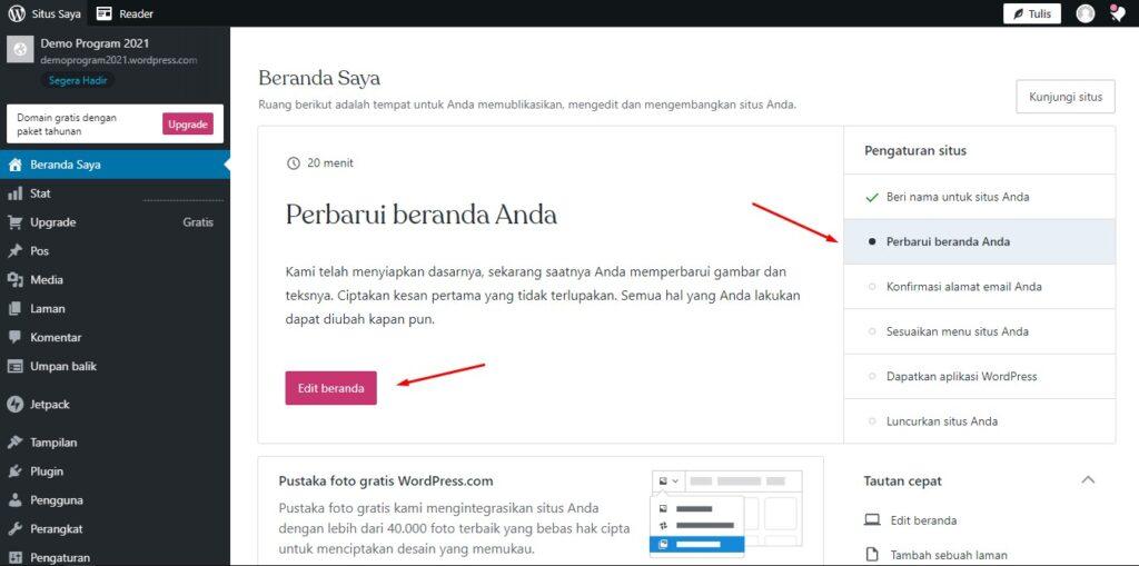 cara membuat membuat website secara gratis menggunakan wordpress