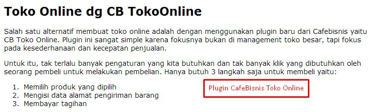 plugin toko online cafebisnis