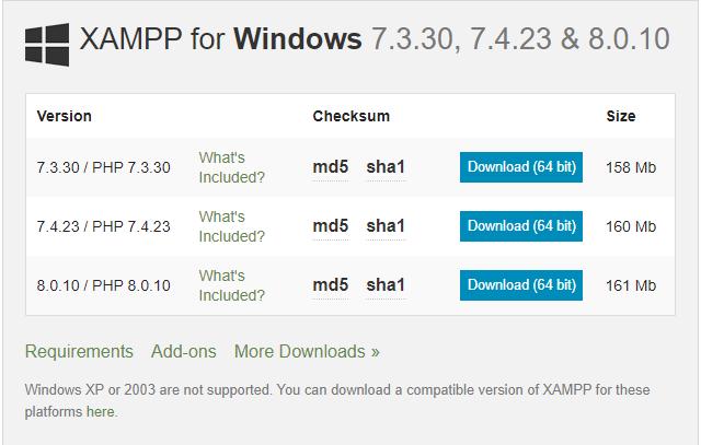 download xampp terbaru