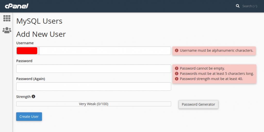 kolom tambah user database