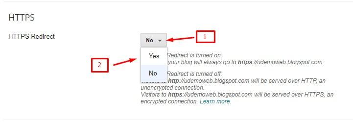 setting domain blogspot
